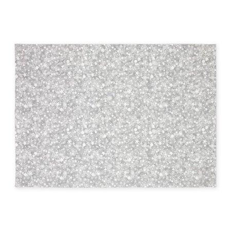 CafePress - Silver Gray Glitter Sparkles - 5'x7'Area Rug