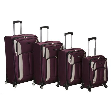Rockland Luggage 4 Piece Impact Softside Spinner Luggage (Prepac Four Sided Spinner)