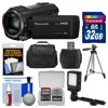 Panasonic HC-V770 Wireless Smartphone Twin Recording Wi-Fi HD Video Camera Camcorder with 32GB Card + Case + LED Light + Tripod + Kit ** Kit Includes 9 Items with all Manufacturer-supplied Accessories + Full USA Warranties: 1) Panasonic HC-V770 Wireless Smartphone Twin Recording Wi-Fi HD Video Camera Camcorder 2) Transcend 32GB SecureDigital (SDHC) 300x UHS- Class 10 Memory Card 3) Precision Design Digital Camera / Camcorder LED Video Light with Bracket 4) Precision Design 50 in PD-50PVTR Compact Travel Tripod 5) Precision Design PD-C20 Digital Camera/Camcorder Case 6) Precision Design SD/SDHC + MicroSD HC Card Reader 7) Precision Design 5-Piece Camera + Lens Cleaning Kit 8) Precision Design 8 SD / 2 MicroSD Memory Card Case 9) LCD Screen Protectors