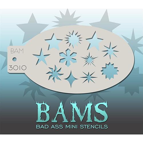 Bad Ass Stars & Shapes Mini Stencil BAM3010