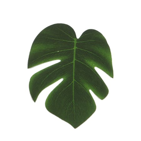 5Pcs Simulation Plant Silk Cloth Fake Palm Leaves Flower Arrangement Ornament Monstera Leaf Artificial Party Jungle Beach Theme Decorations](Fake Palm Leaves)