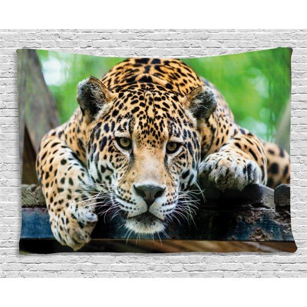 Jungle Tapestry, South American Jaguar Wild Animal ...