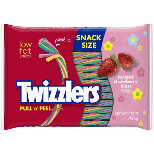 Twizzlers Pull 'n' Peel Twizted Strawberry Blast Candy, 10.12 oz