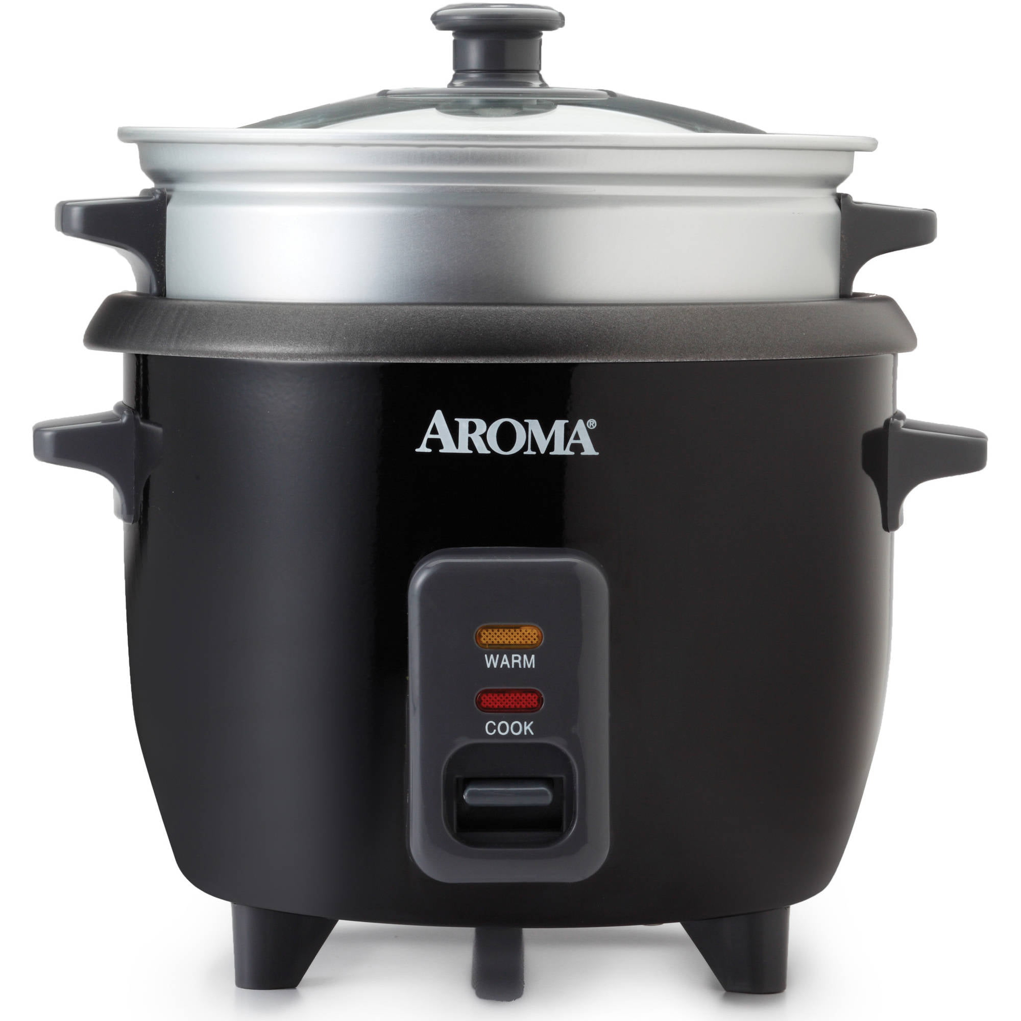 Aroma 6 Cup Rice Cooker And Food Steamer Black Walmartcom