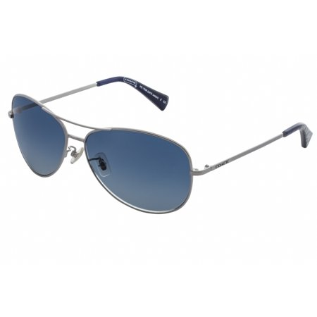 338a2e4235 Coach - Coach Sunglasses HC7028 913817 Silver Navy Blue Gradient -  Walmart.com