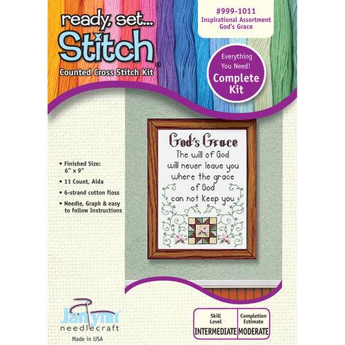 Janlynn 6x9 God's Grace Cross-Stitch Kit