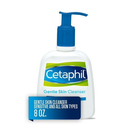 Cetaphil Gentle Skin Cleanser, Face Wash For Sensitive and All Skin Types, 8 (Best Type Of Razor For Sensitive Skin)