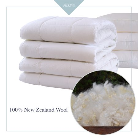 A1HC- GOTS Certified Organic Cotton 100% New Zealand Pure Wool Duvet Inserts White