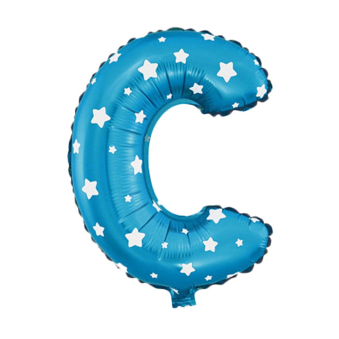 """Unique Bargains 16"""" Blue Foil Letter C Balloon Helium Birthday Wedding Festival Decor"""