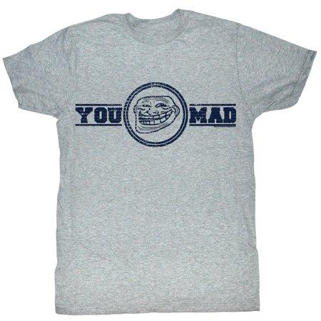 U Mad  You Mad Bro  Meme Gif Trending You Mad Logo Adult T Shirt