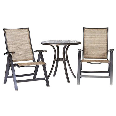 Strange 3 Piece Bistro Table Chairs Set Outdoor Dining Table Folding Chairs Garden Backyard Patio Furniture Bralicious Painted Fabric Chair Ideas Braliciousco