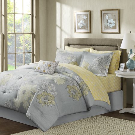 Home Essence Cornell Complete Comforter and Cotton Sheet Set