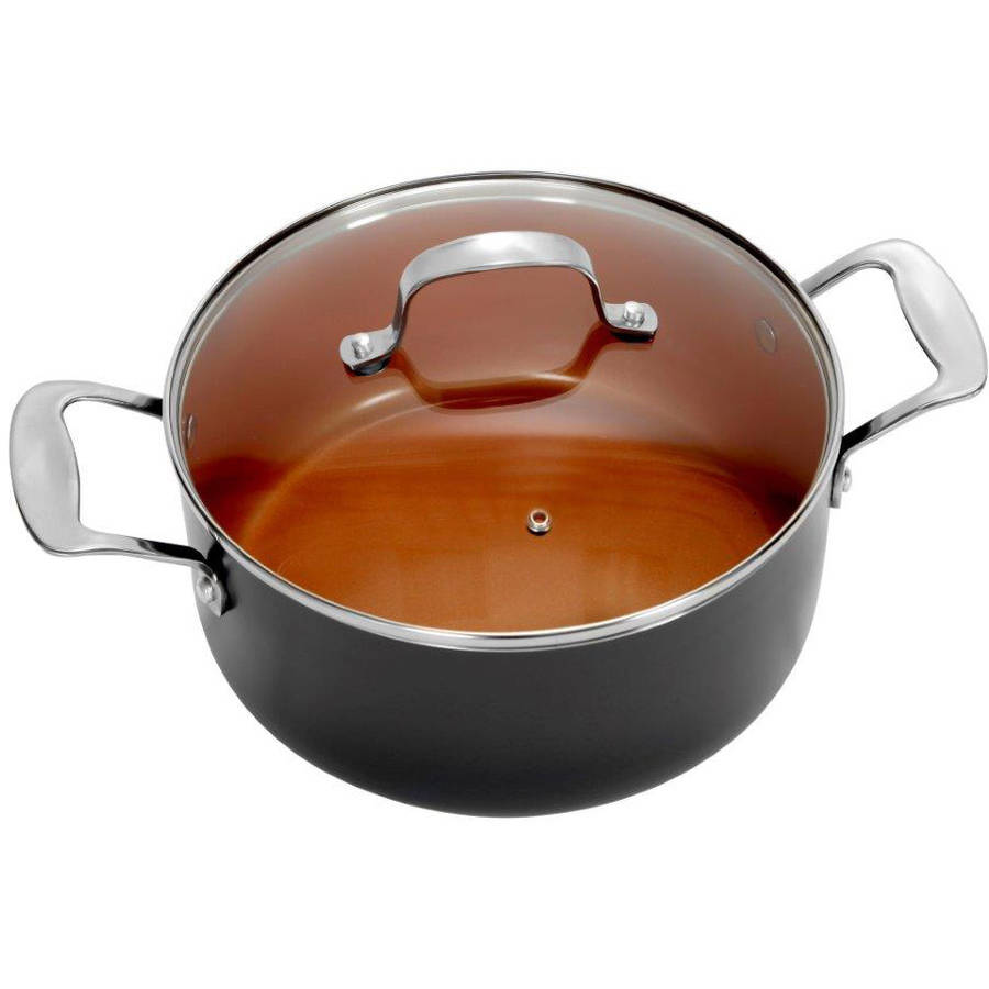 Gotham Steel Ceramic and Titanium Nonstick 5-Quart Pot with Lid