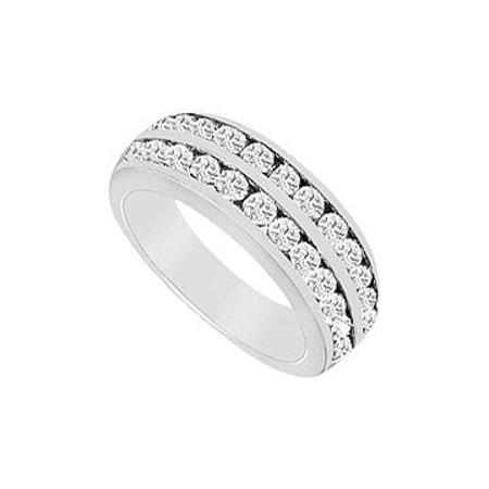 Cubic Zirconia Wedding Band 14K White Gold 1.00 CT Cubic Zirconia - image 1 of 2