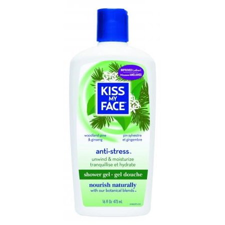 Kiss My Face Anti Stress Shower Gel, Woodland Pine & Ginseng, 16 Fl Oz