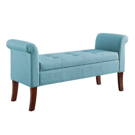 Charlton Home Keziah Rolled Arm Upholstered Storage Bench