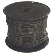 """Building Wire,  Black,  Solid,  15 Max. Amps,  0.102"""" Nominal Outside Dia."""