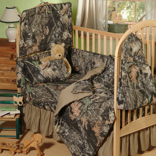 Mossy Oak New Break Up 3 Piece Crib Bedding Set