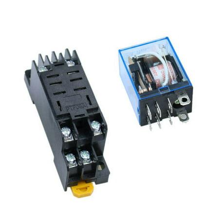 LY2NJ HH62P-L JQX-13F 220V AC Coil DPDT Power Relais 8 Pin mit PTF08A Sockel LQNB LQNB R