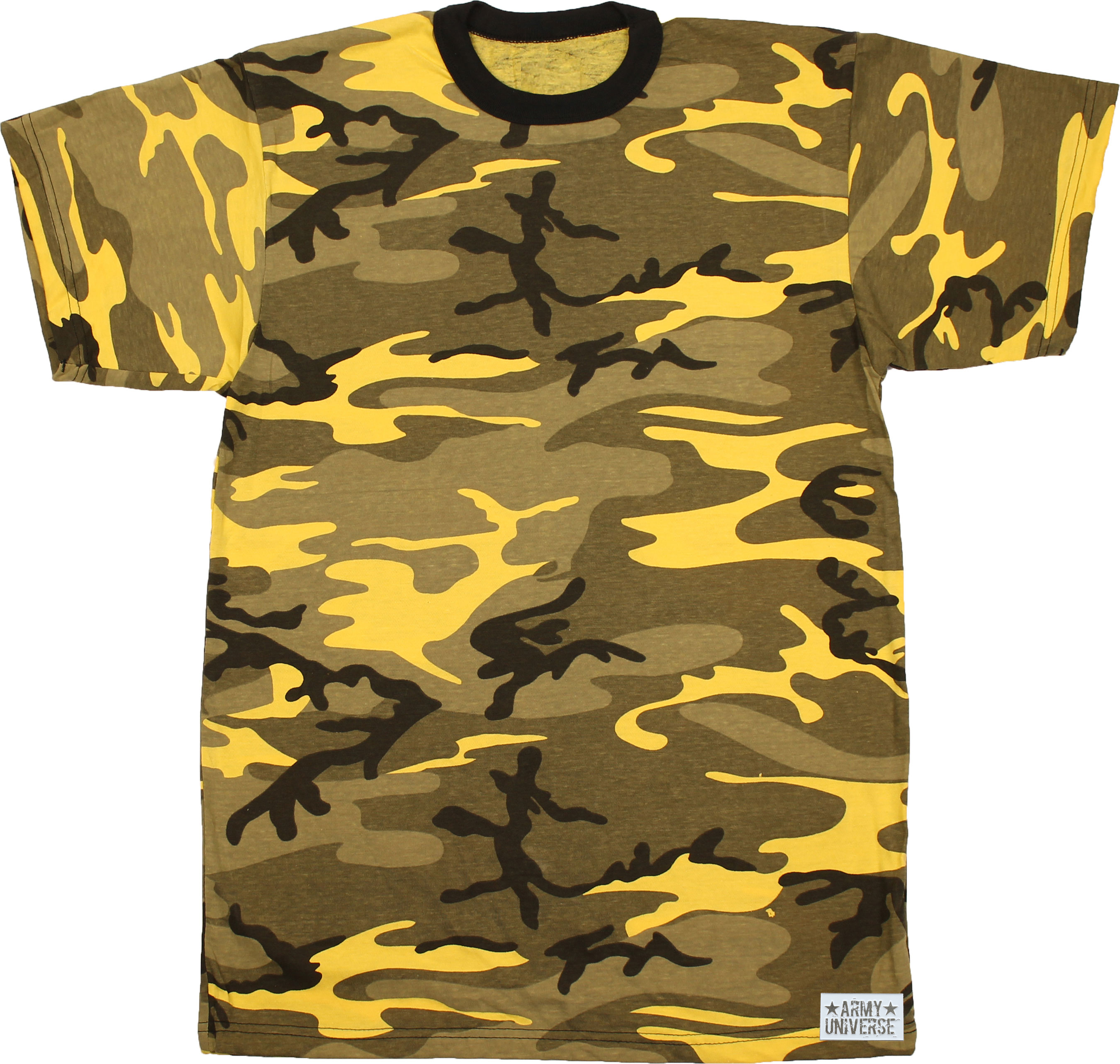 Army Universe - Tiger Stripe Camouflage Short Sleeve T-Shirt with ARMY  UNIVERSE Pin - Size Medium (37