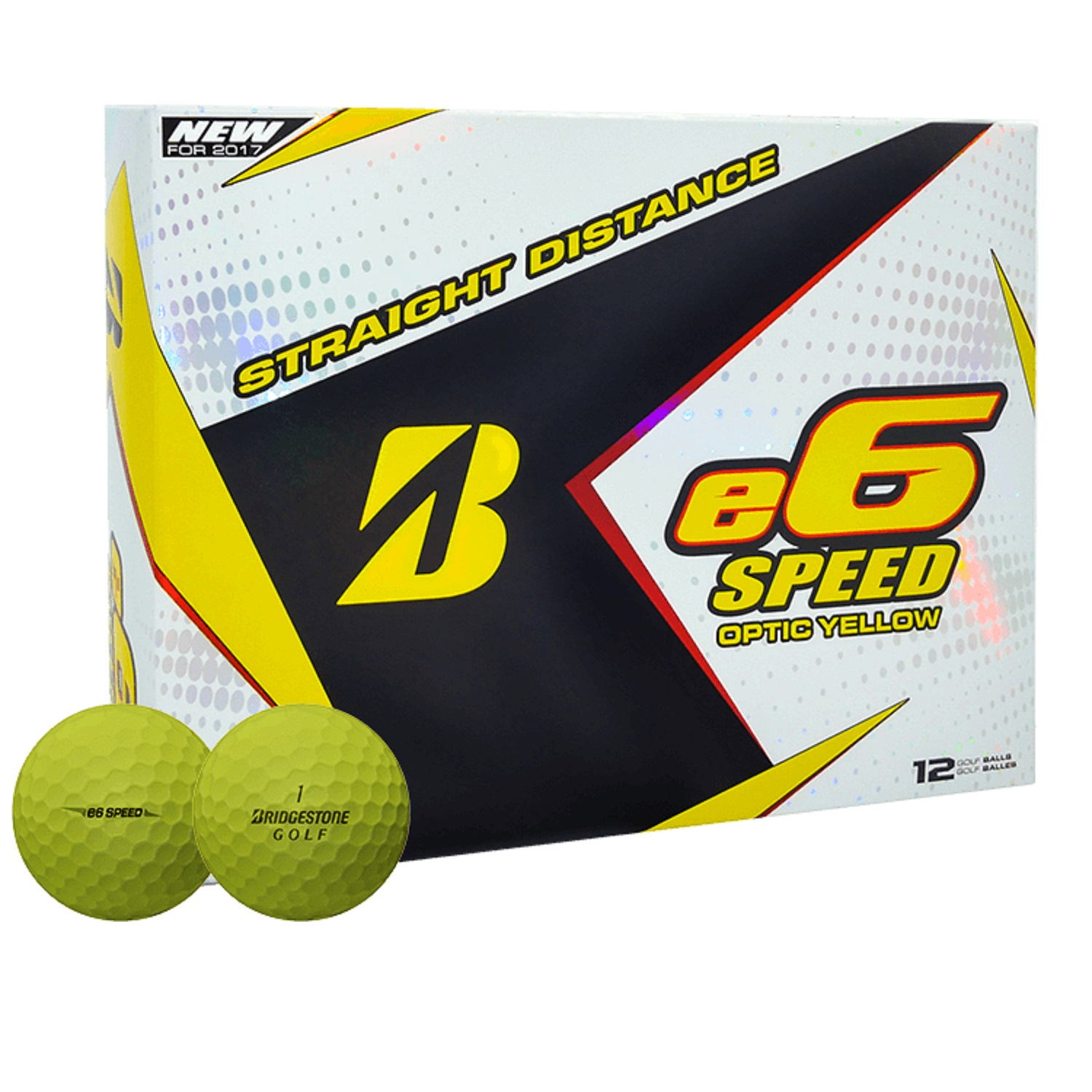 Bridgestone e6 Speed Golf Balls #1-#4 12-Ball Pack Yellow