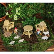 New Creative Rustic Garden Furniture Set Statue