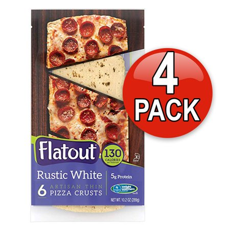 Jack Pizza - Flatout Thin Crust Flatbreads Artisan Pizza, 4 Pack (Rustic White)