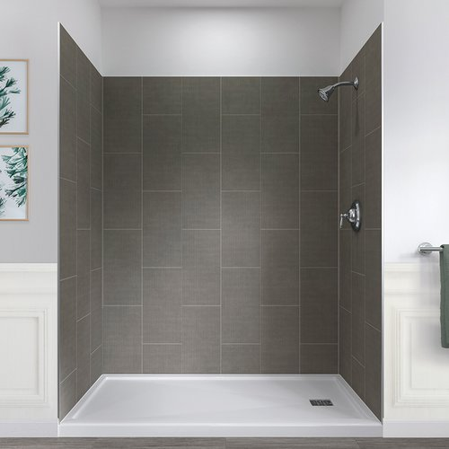 Hazelwood Home Jetcoat  78'' x 60'' x 32'' Five Panel Shower Wall