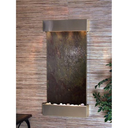 Adagio WCS2014 Whispering Creek Stainless Steel Multicolor Featherstone Wall Fountain