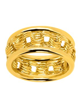 9a31fccf2c Product Image Just Gold Rosetta Chain Band Ring in 10kt Gold