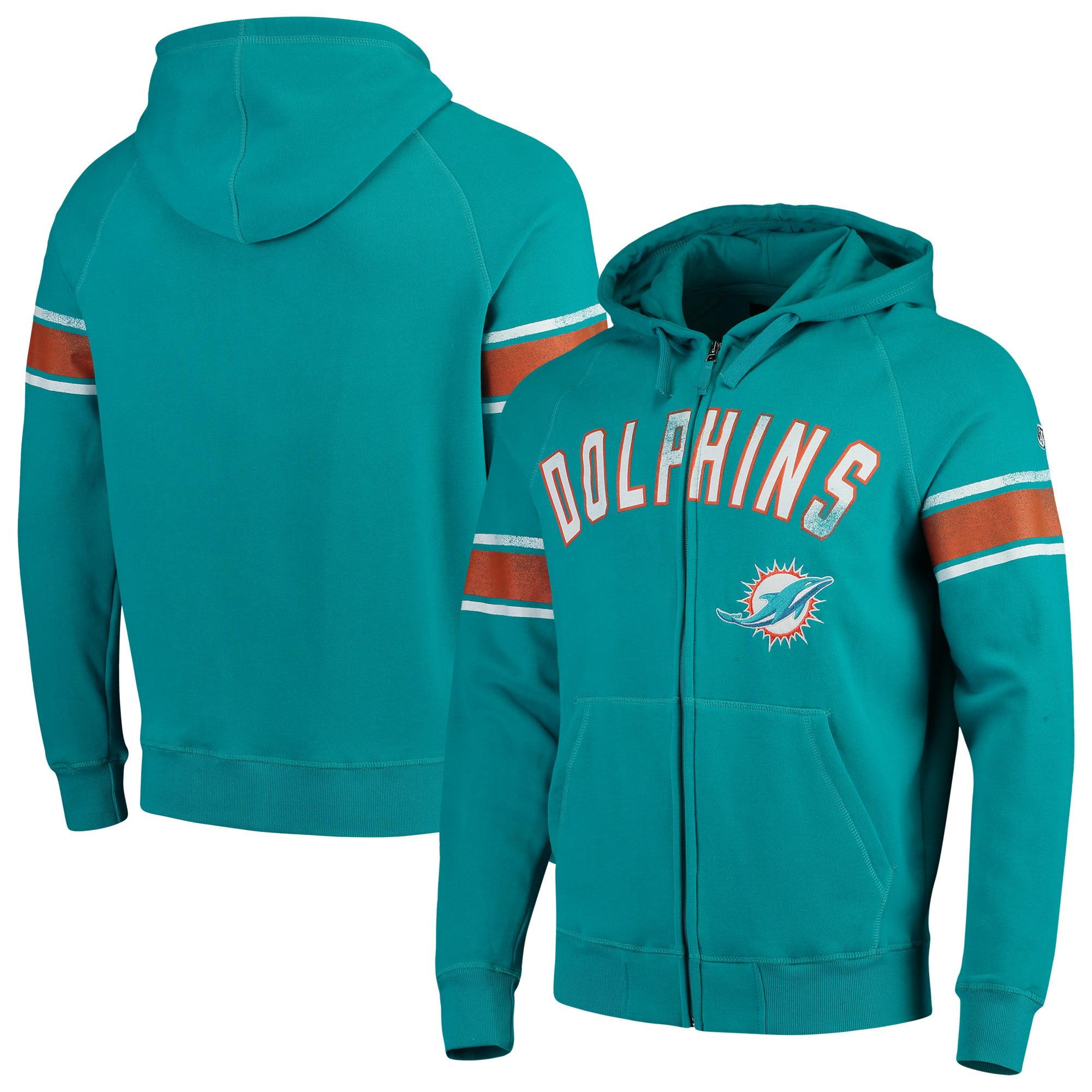 Miami Dolphins Hands High Arena Full-Zip Hoodie - Aqua