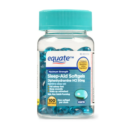 Equate Maximum Strength Sleep-Aid Softgels, 50 mg, 100 (Atopica 50 Mg Best Price)