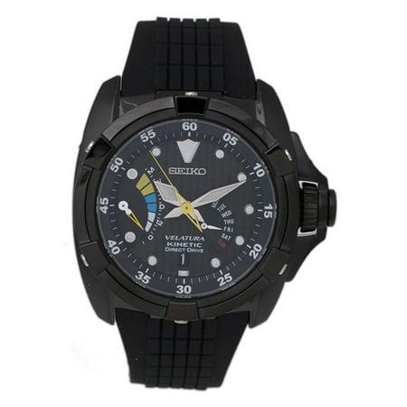 Seiko Mens Velatura Kinetic Direct Drive Watch Watch Quartz Sapphire Crystal by