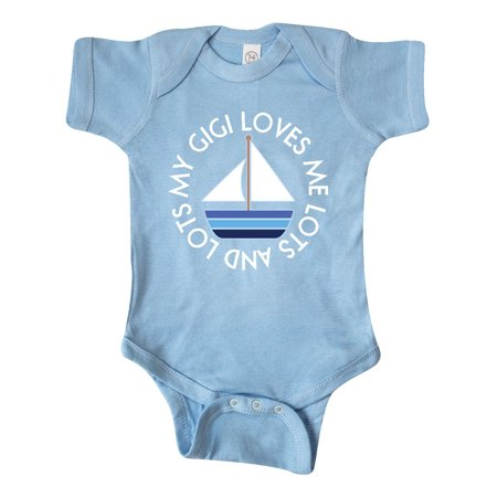 My Gigi Loves Me Sailboat Boys Sailing Infant Creeper