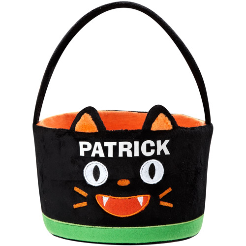 Personalized Goofy Goblin Halloween Treat Bag, Cat