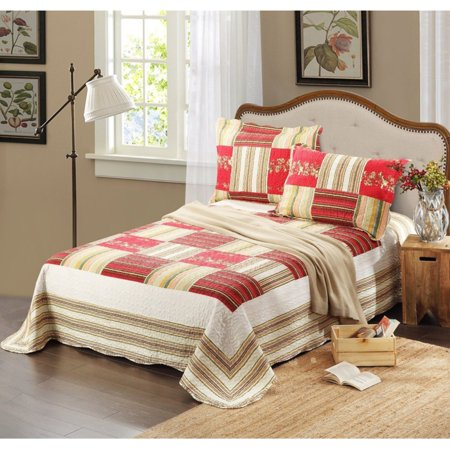 Apple Tree 3 Piece Patchwork Quilt Set by Tache Home -