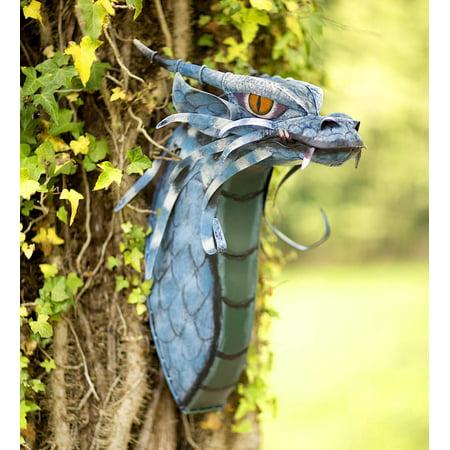 Metal Dragon Head Indoor Outdoor Wall Art, 14½L x 9½W x 20½H ...