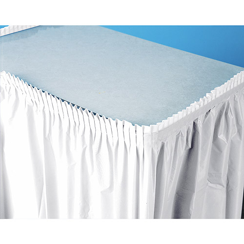 Plastic Table Skirt, White