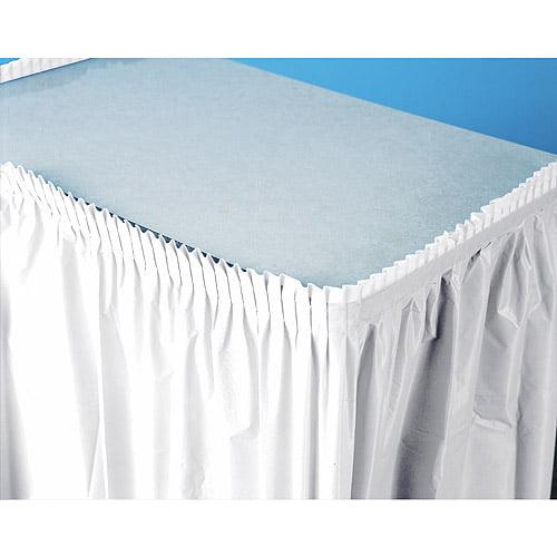 Plastic Table Skirt, White