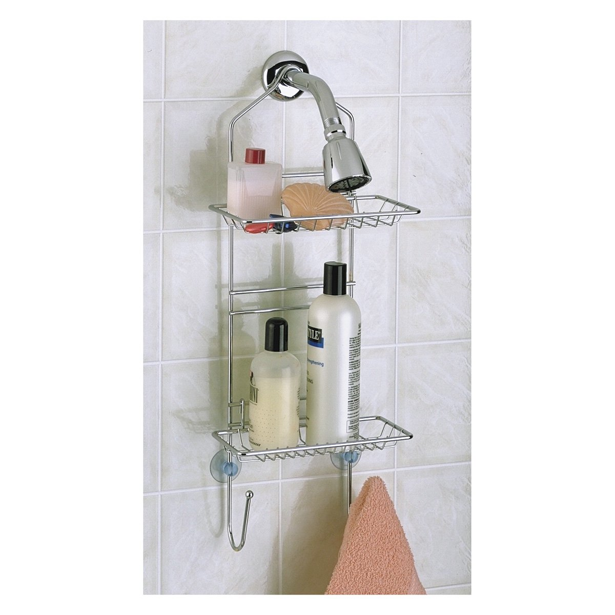 Click here to buy Adjustable Shower Caddy, Chrome, by TAYMOR INDUSTRIES, INC.