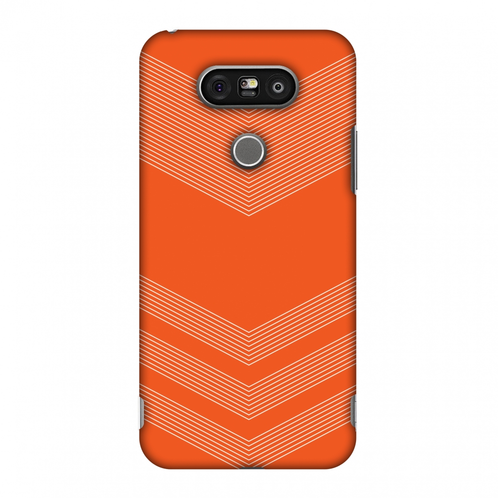 LG G5 Case, Premium Handcrafted Designer Hard Shell Snap On Case Printed Back Cover with Screen Cleaning Kit for LG G5, Slim, Protective - Carbon Fibre Redux Tangy Orange 2