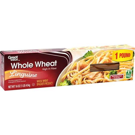Great Value Whole Wheat Linguine, 16 oz