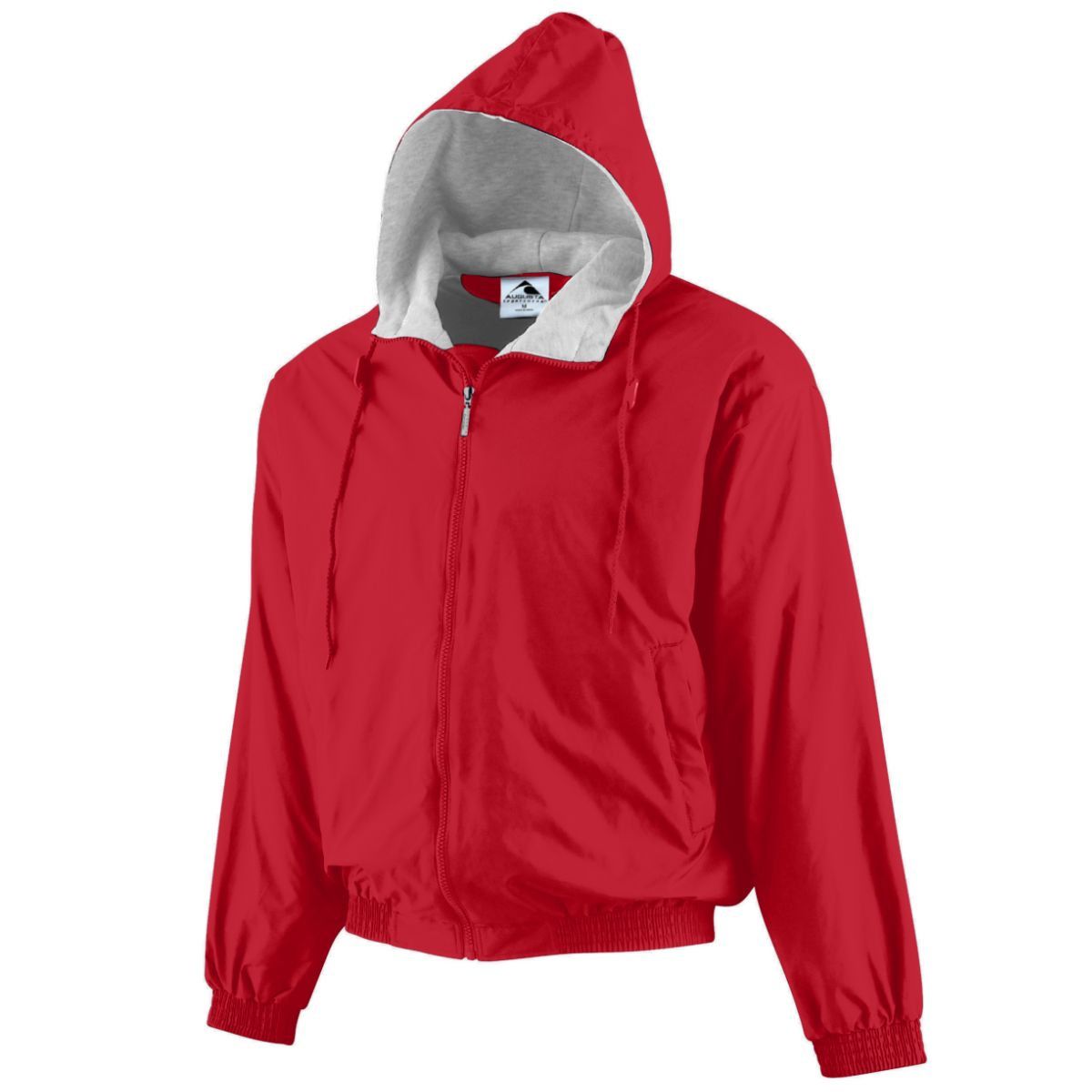 Hooded Taffeta Jacket/fleece Lined RED M