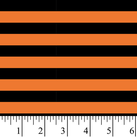 Vintage Halloween Material (David Textiles Halloween Stripe Cotton Fabric 1 Yard Cut)