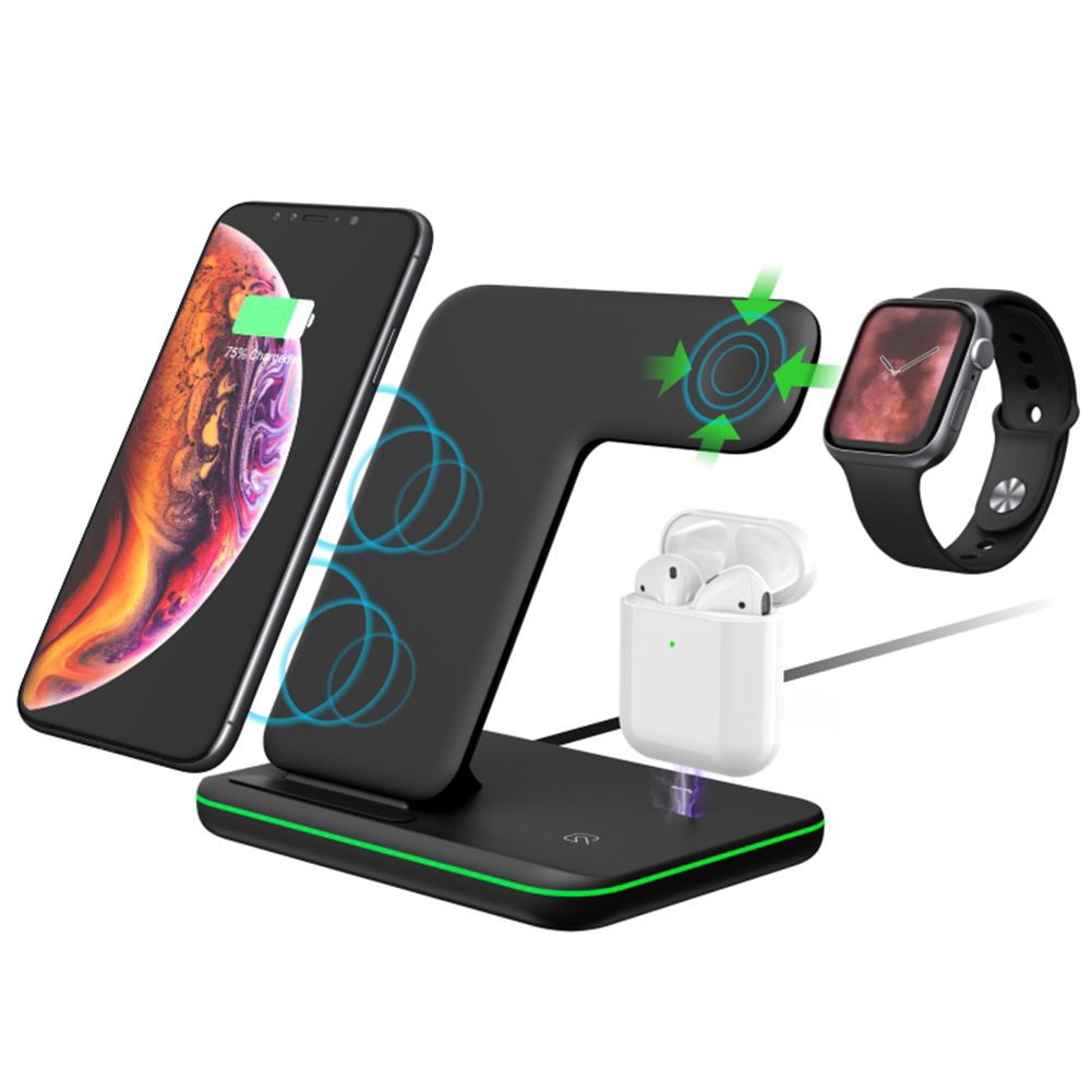 Wireless Charger, 3 in 1 Wireless Charging Dock for Apple ...