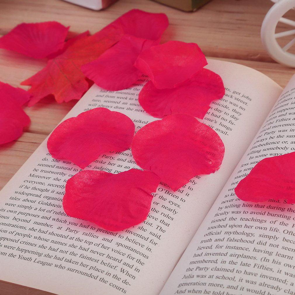 Lightweight Table Flowers Artificial Rose Petals 4000 PCS Silk Rose Petals Christmas Wedding Party Decorations