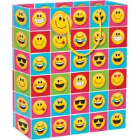 "Show Your Emojions 12"" x 10"" x 5"" Gift Bag, Case of 12"