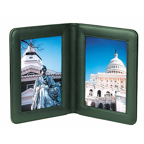 Royce Leather 864-TAN-5 Double 5 X 7 Picture Frame