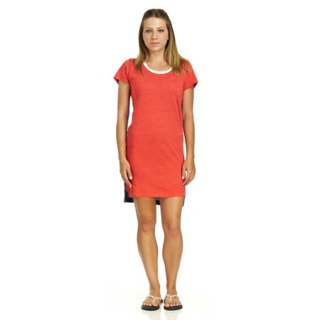 Alternative Eco Jersey T-Shirt Dress, Eco True Cayenne, Medium Jersey T-shirt Dress