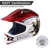 AHR H-VEN20 DOT Youth Motocross Helmet Off Road ATV Dirt Bike Full Face Motorcycle Racing Sports Outdoor S/M/L/XL